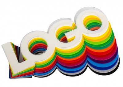 Logos plexi couleur