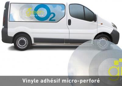 Vinyle adhésif micro-perforé