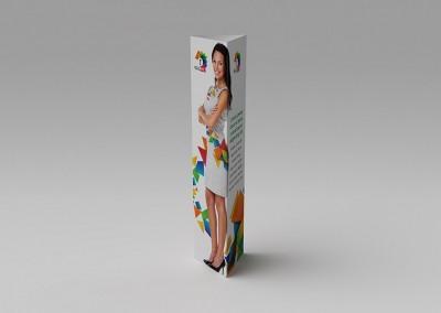 Totem carton 3 faces