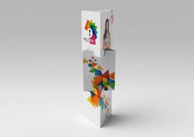 Totem carton modulaire