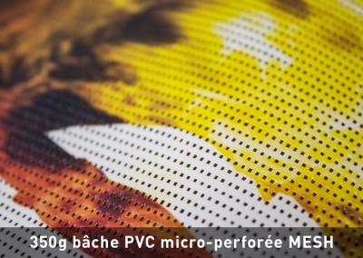 Bâche PVC micro-perforée