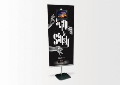 Banner multimédia avec écran